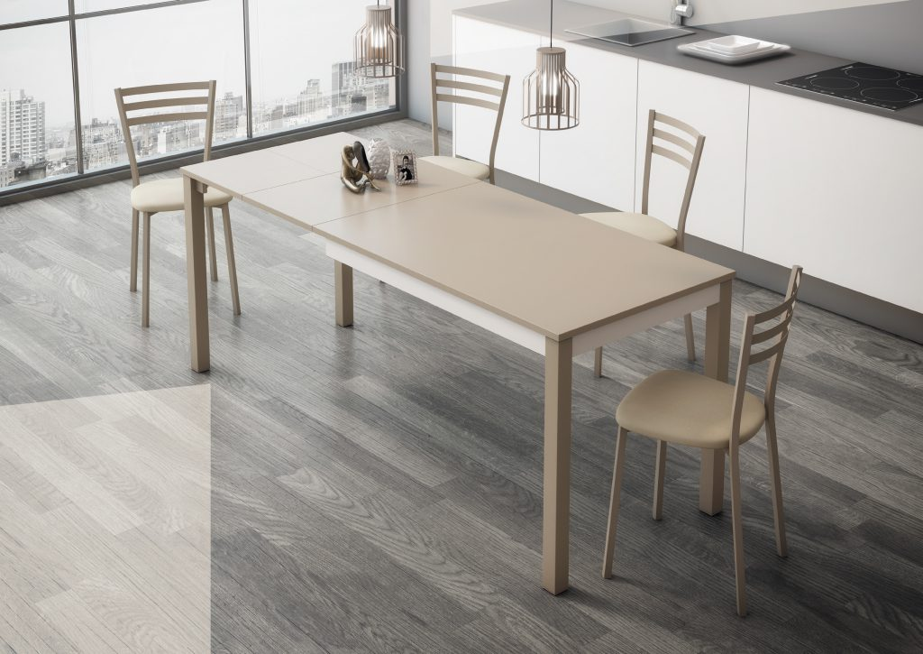Mesas y sillas cocinas pascual for Mesa cocina silestone